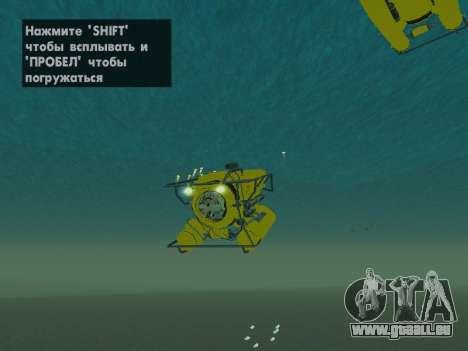 Submersible de GTA V pour GTA San Andreas