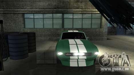 Ford Mustang Shelby GT500 1967 pour GTA San Andreas vue de côté