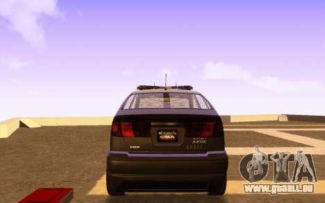 Karin Dilettante N.O.O.S.E. pour GTA San Andreas sur la vue arrière gauche