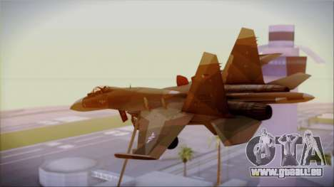 SU-27 Flanker A Philippine Air Force für GTA San Andreas linke Ansicht