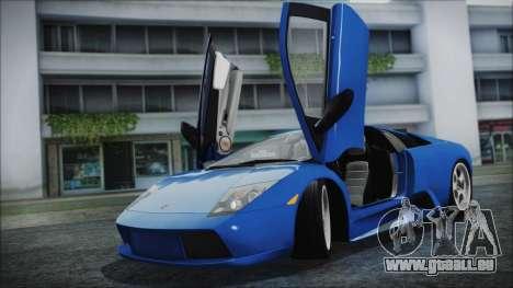 Lamborghini Murcielago 2005 Yuno Gasai HQLM pour GTA San Andreas sur la vue arrière gauche