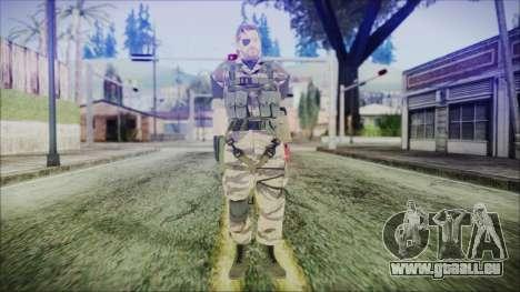 MGSV Phantom Pain Snake Normal Tiger für GTA San Andreas zweiten Screenshot