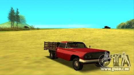 Voodoo El Camino v2 (Truck) für GTA San Andreas Rückansicht
