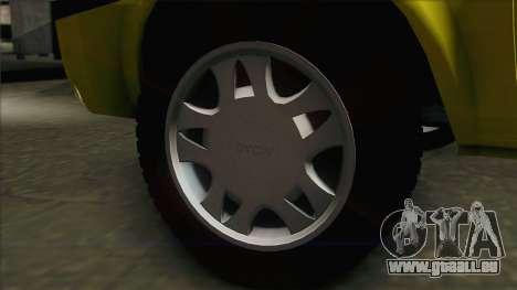 Dacia Solenza Taxi pour GTA San Andreas sur la vue arrière gauche