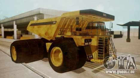 Dump Truck pour GTA San Andreas laissé vue