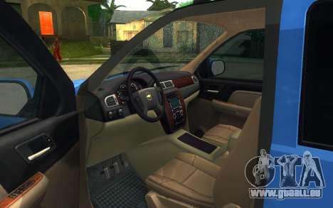 Chevrolet Tahoe pour GTA San Andreas sur la vue arrière gauche