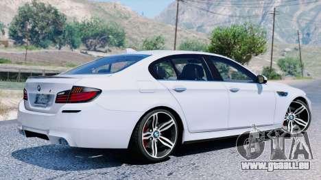 GTA 5 BMW M5 F10 2012 vue arrière