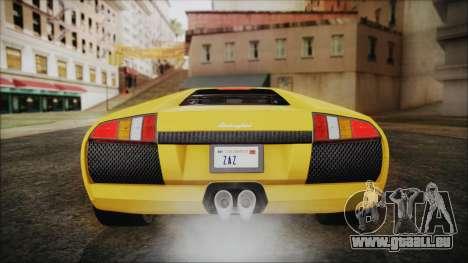 Lamborghini Murcielago 2005 Yuno Gasai IVF für GTA San Andreas Innen