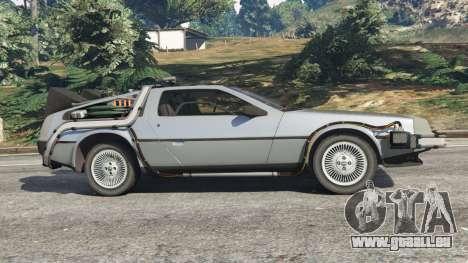 GTA 5 DeLorean DMC-12 Back To The Future v1.0 linke Seitenansicht