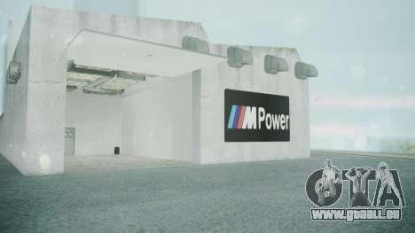 BMW Showroom pour GTA San Andreas quatrième écran
