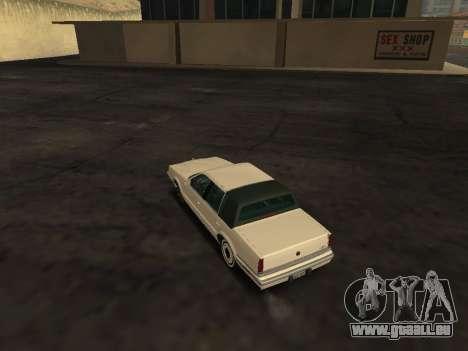 Chrysler New Yorker 1988 pour GTA San Andreas sur la vue arrière gauche