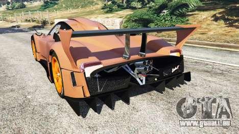 GTA 5 Pagani Zonda R v0.9 hinten links Seitenansicht