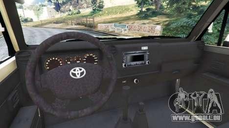 GTA 5 Toyota Land Cruiser LX Pickup 2016 arrière droit vue de côté