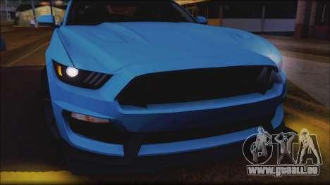 Ford Mustang Shelby GT350R 2016 No Stripe pour GTA San Andreas vue de côté
