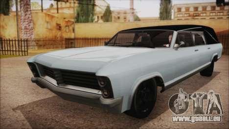 GTA 5 Albany Lurcher Bobble Version pour GTA San Andreas sur la vue arrière gauche