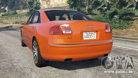 GTA 5 Audi A8 v1.1 hinten links Seitenansicht