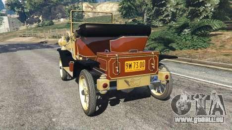 GTA 5 Ford Model T [two colors] arrière vue latérale gauche