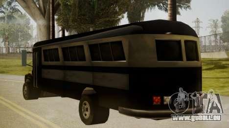 Bus III pour GTA San Andreas laissé vue