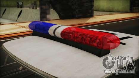 Police Car R.P.D. from RE 3 Nemesis pour GTA San Andreas vue arrière