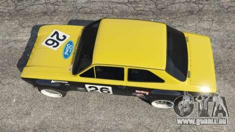 GTA 5 Ford Escort MK1 v1.1 [26] Rückansicht