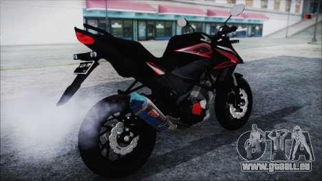 Honda CB150R Black für GTA San Andreas zurück linke Ansicht