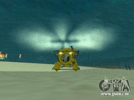 Submersible de GTA V pour GTA San Andreas laissé vue