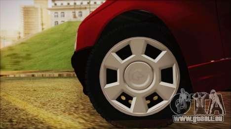 Ikco Arisun pour GTA San Andreas sur la vue arrière gauche