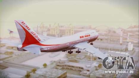 Boeing 747-437 Air India Tanjore New Skin pour GTA San Andreas laissé vue