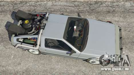 GTA 5 DeLorean DMC-12 Back To The Future v1.0 Rückansicht