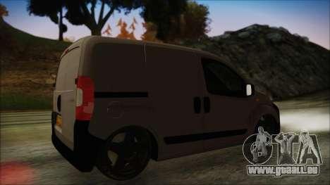 Peugeot Bipper pour GTA San Andreas sur la vue arrière gauche