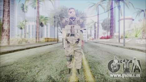 MGSV Phantom Pain Snake Scarf Olive Drab pour GTA San Andreas deuxième écran
