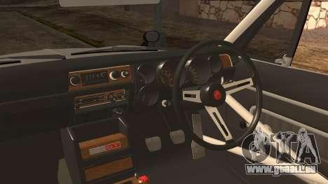Nissan GT2000 STICKER BOMB pour GTA San Andreas sur la vue arrière gauche