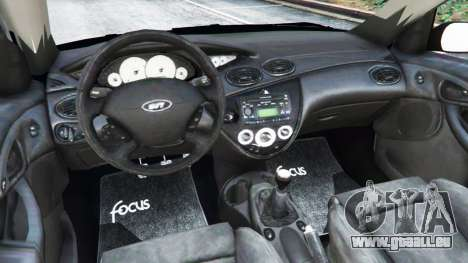 GTA 5 Ford Focus SVT Mk1 arrière droit vue de côté