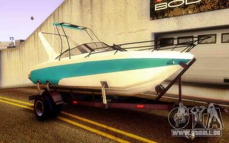 GTA V Boat Trailer pour GTA San Andreas vue de droite