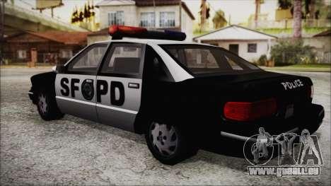 Beta SFPD Cruiser für GTA San Andreas linke Ansicht
