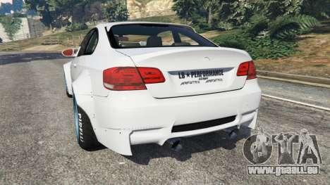 GTA 5 BMW M3 (E92) [LibertyWalk] v1.1 hinten links Seitenansicht
