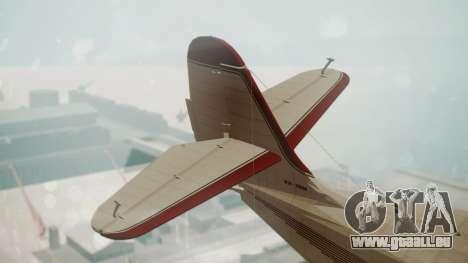 Grumman G-21 Goose VHIRM pour GTA San Andreas sur la vue arrière gauche