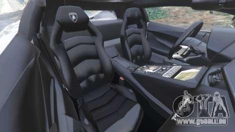 GTA 5 Lamborghini Aventador LP700-4 Police v5.5 rechte Seitenansicht
