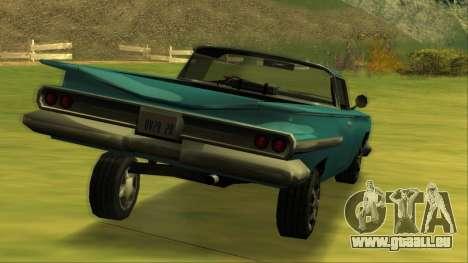 Voodoo El Camino v1 für GTA San Andreas Unteransicht
