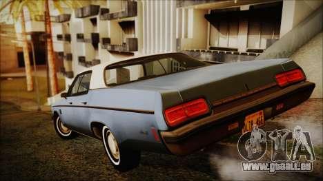 Oldsmobile Delta 88 1973 Final pour GTA San Andreas laissé vue