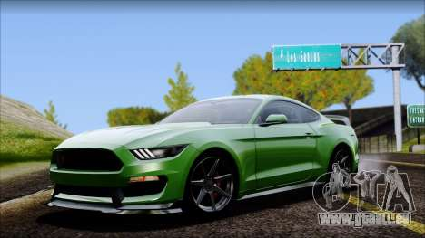 Ford Mustang Shelby GT350R 2016 No Stripe pour GTA San Andreas
