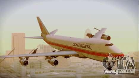 Boeing 747-200 Continental Airlines Red Meatball für GTA San Andreas zurück linke Ansicht
