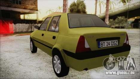 Dacia Solenza für GTA San Andreas zurück linke Ansicht