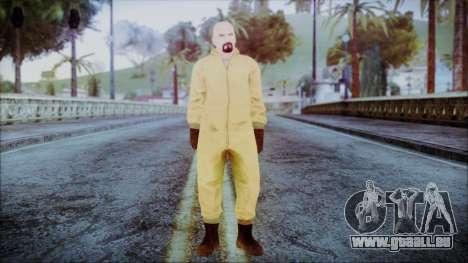 Walter White Breaking Bad Chemsuit für GTA San Andreas zweiten Screenshot