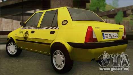 Dacia Solenza Taxi pour GTA San Andreas laissé vue