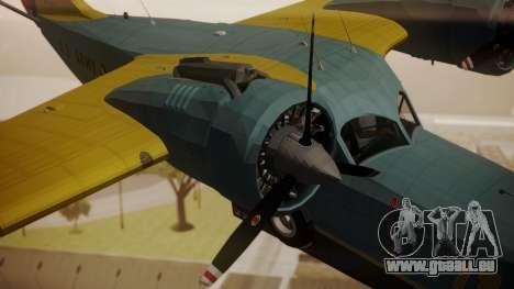 Grumman G-21 Goose N130FB für GTA San Andreas rechten Ansicht