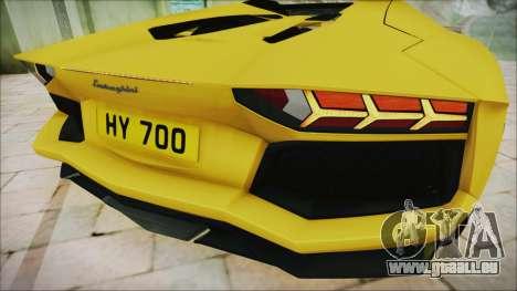 Lamborghini Aventador LP700-4 Roadster 2013 für GTA San Andreas Innenansicht