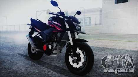 Honda CB150R Black pour GTA San Andreas vue de droite