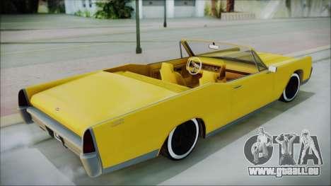 GTA 5 Vapid Chino Bobble Version pour GTA San Andreas sur la vue arrière gauche