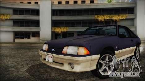 Ford Mustang Hatchback 1991 v1.2 für GTA San Andreas